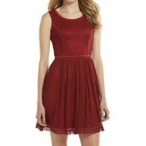 LC Lauren Conrad Red Dot Fit & Flare Tulle Dress